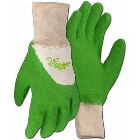Boss Gloves 8404GM Medium Green Dirt Digger Gardening and General Purpose Gloves