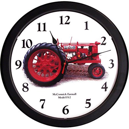 "New Massive McCormick Farmall Model F12 Tractor 14"" Wall Clock F-12 - image 1 of 1"