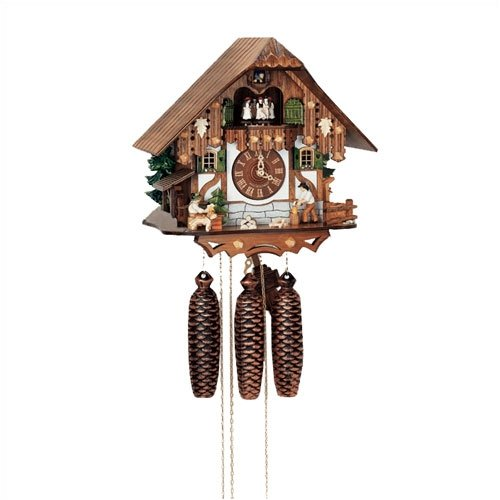 Schneider 12.5'' 8-Day Movement Cuckoo Clock with Tudor Style House
