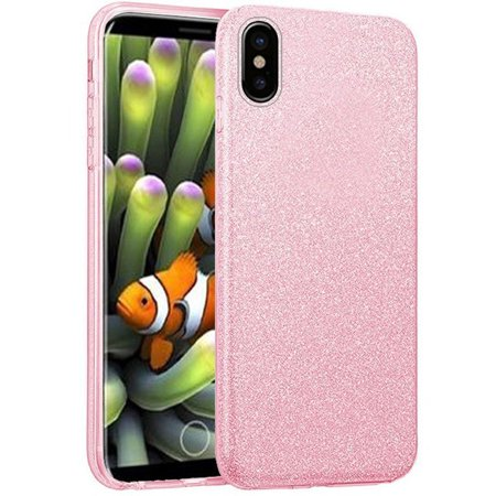 For Apple iPhone X / Xs SHINE Hybrid Hard Case Rubber Phone Cover +Screen Guard