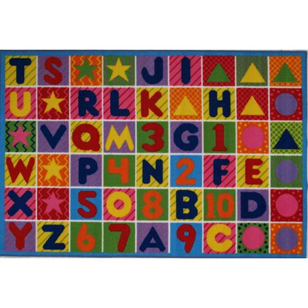 Fun Rugs Numbers And Letters Kids Rug