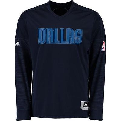 Dallas Mavericks Adidas NBA Men's On-Court Authentic Long Sleeve Shooting Shirt