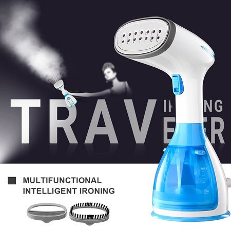 1500W 110-120V Fast-Heat Handheld Clothes Garment Steamer w/ 280ml Removable Water Tank Brushes Portable Handy Laundry Steam Iron Facial Steamer Humidifier for Home Office Travel (Facial Steamer Handheld)
