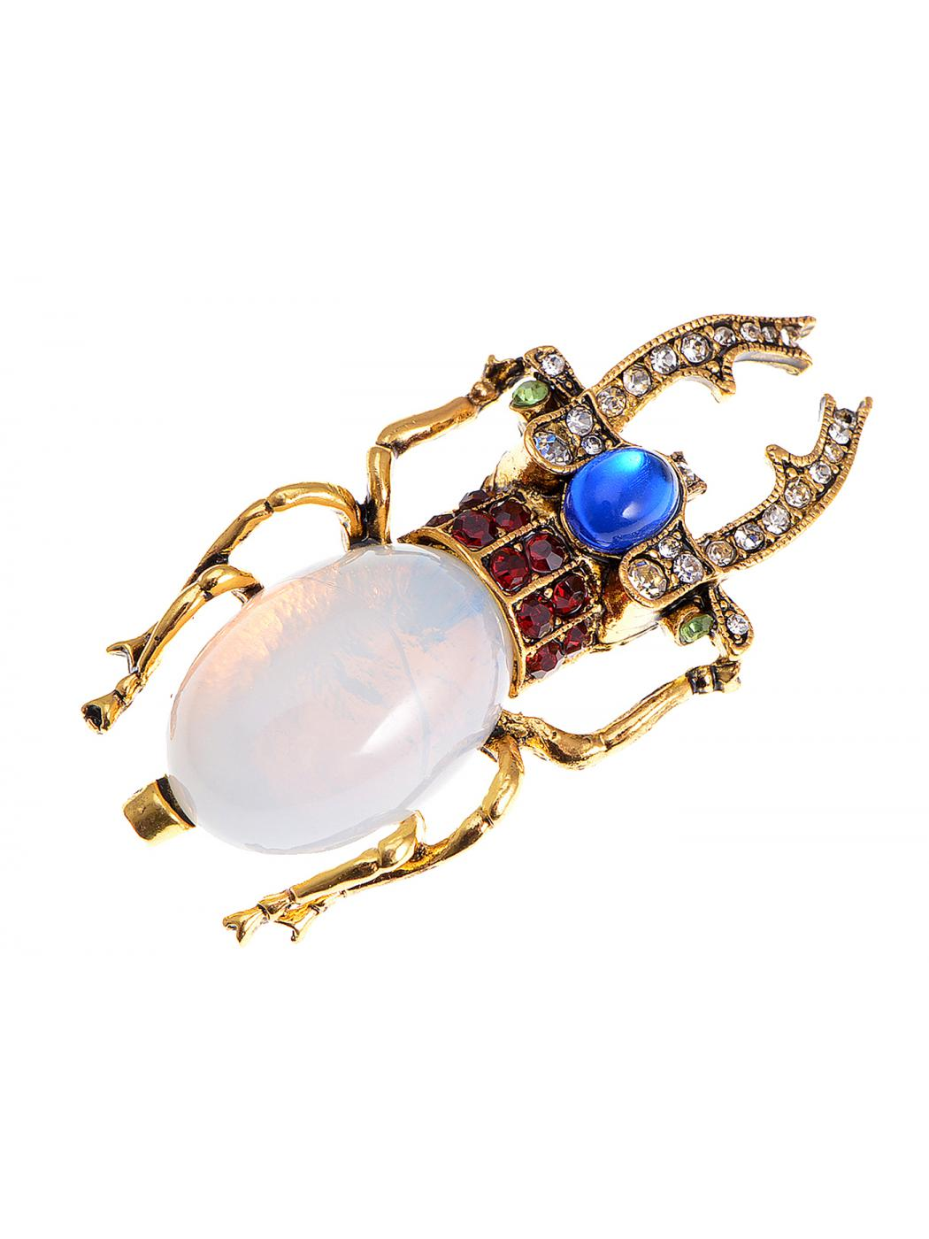 Feinuhan Antique Golden Tone Egyptian Vintage Pincher Scarab Beetle Bug Brooch... by