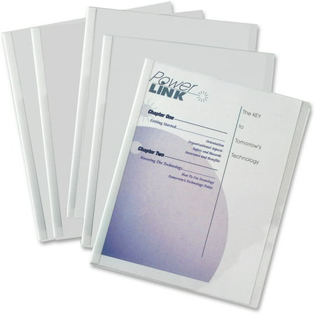 C-Line Report Covers with Binding Bars, Vinyl, Clear, 1/8
