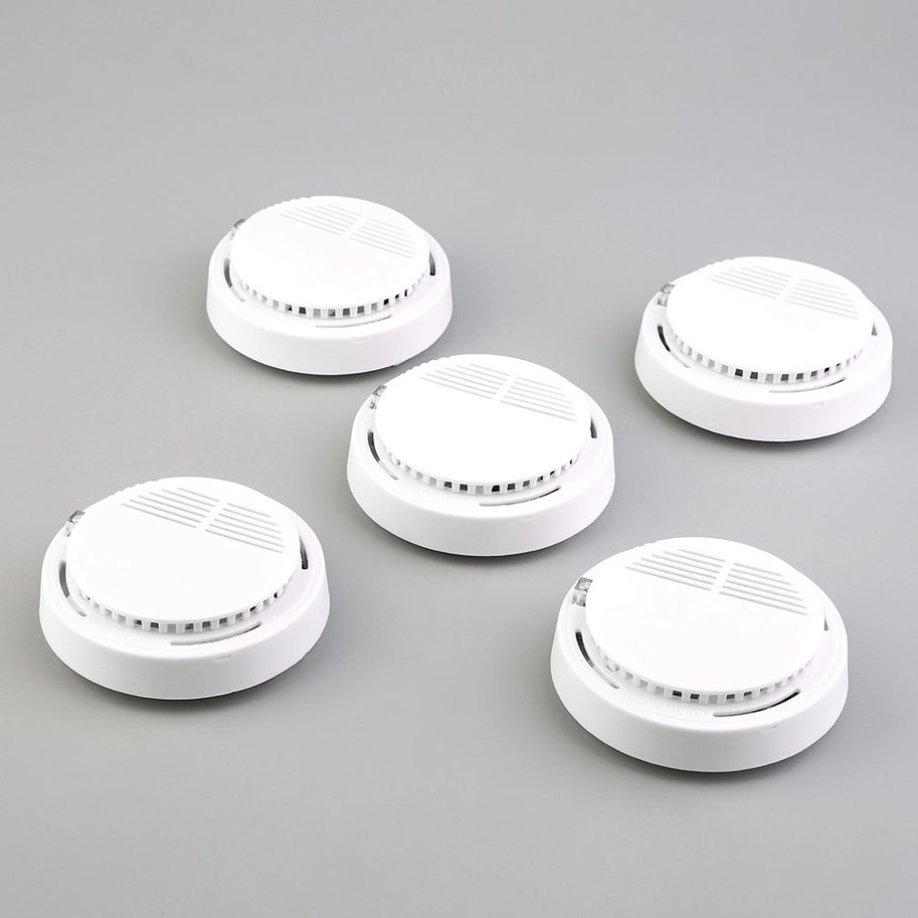 5PCS Smoke and Fire Alarm Carbon Monoxide Detector for Home Security System Cordless by