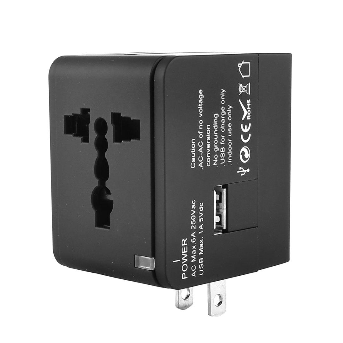 Universal Travel US UK AU EU Charger Travel Adapter AC Power Plug w USB Port