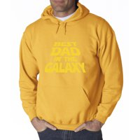Trendy USA 715 - Adult Hoodie Best Dad in The Galaxy Star Wars Opening Crawl Sweatshirt 4XL Heliconia