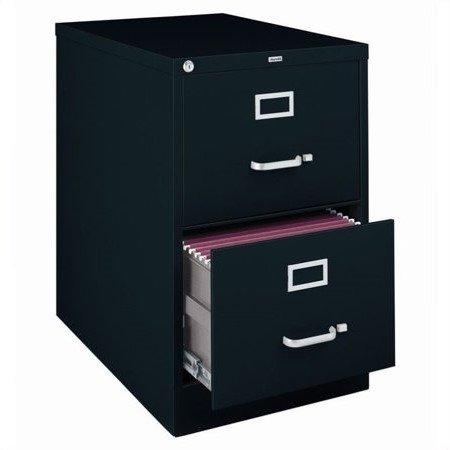 2500 Series 25 Inch Deep 2 Drawer Legal Size Vertical File Cabinet Black