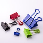 Pen + Gear Metallic Color Grip Binder Clips, Assorted Sizes and Colors, 24 Pieces