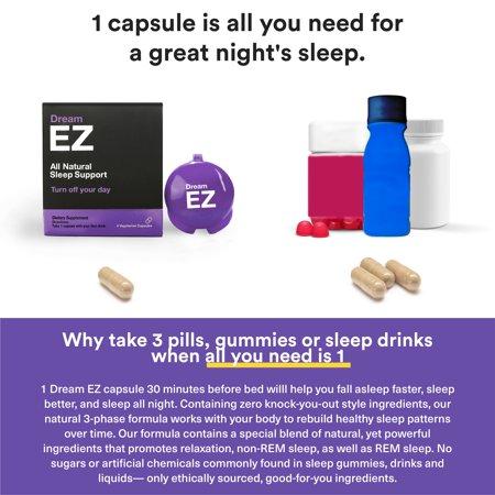Dream EZ Melatonin 10mg Extra Strength, Sleep Vitamin, Valerian, Lemon Balm, Insomnia Relief | 36 CT - image 11 of 11