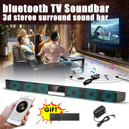 Hi Fi Rim - 60W Soundbar 360° 3D Surround Sound bar 34 inch TV Wireless Soundbar Built-in Subwoofer Display Screen Stereo Speaker HIFI Superbass Home Theater Audio For PC Computer Smartphone
