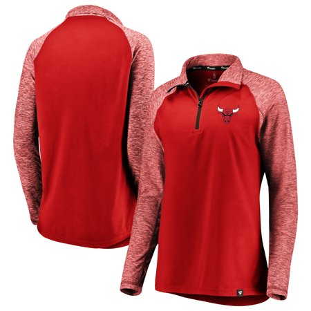 Chicago Bulls Fanatics Branded Women s Made to Move Static Performance  Raglan Sleeve Quarter-Zip Pullover Jacket - Red Heathered Red - Walmart.com 7db3511b6