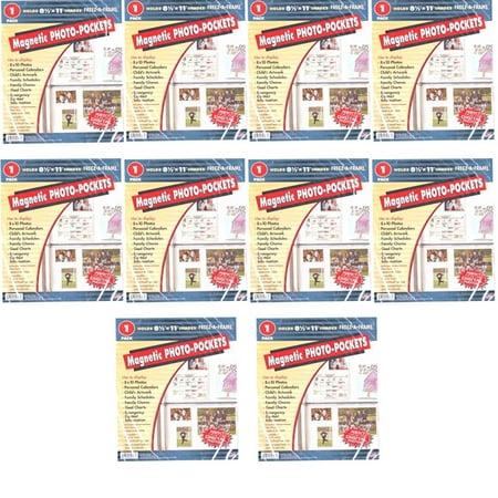 Freez-A-Frame Magnetic 8.5'' x 11'' Photo Frame Pocket Slam Proof Magnet 10 (Frame Magnet)