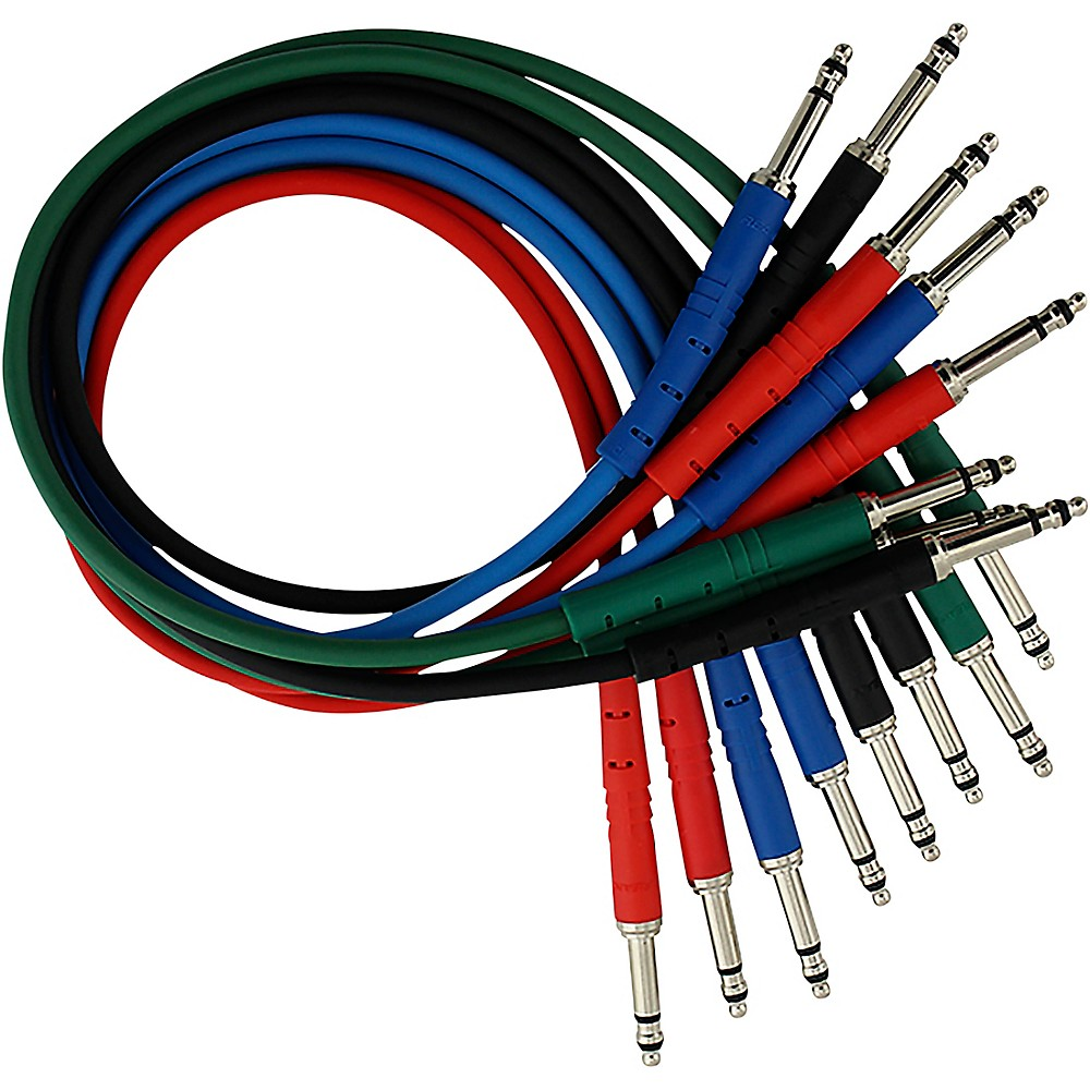 Rapco Horizon StageMASTER TRS TT Patch Cable 8-Pack