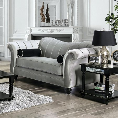 Transitional Fabric Upholstery Loveseat in Beige Marvin by Furniture of America