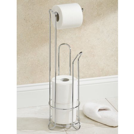 InterDesign Chrome Toilet Paper Holder Stand ()