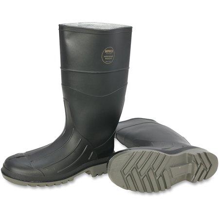 Honeywell, SVS18801BLM120, Servus Iron Duke PVC Steel Toe Safety Footwear, 2 / Pair, Black,Gray