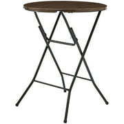"Mainstays 31"" Round High Top Folding Table, Walnut"