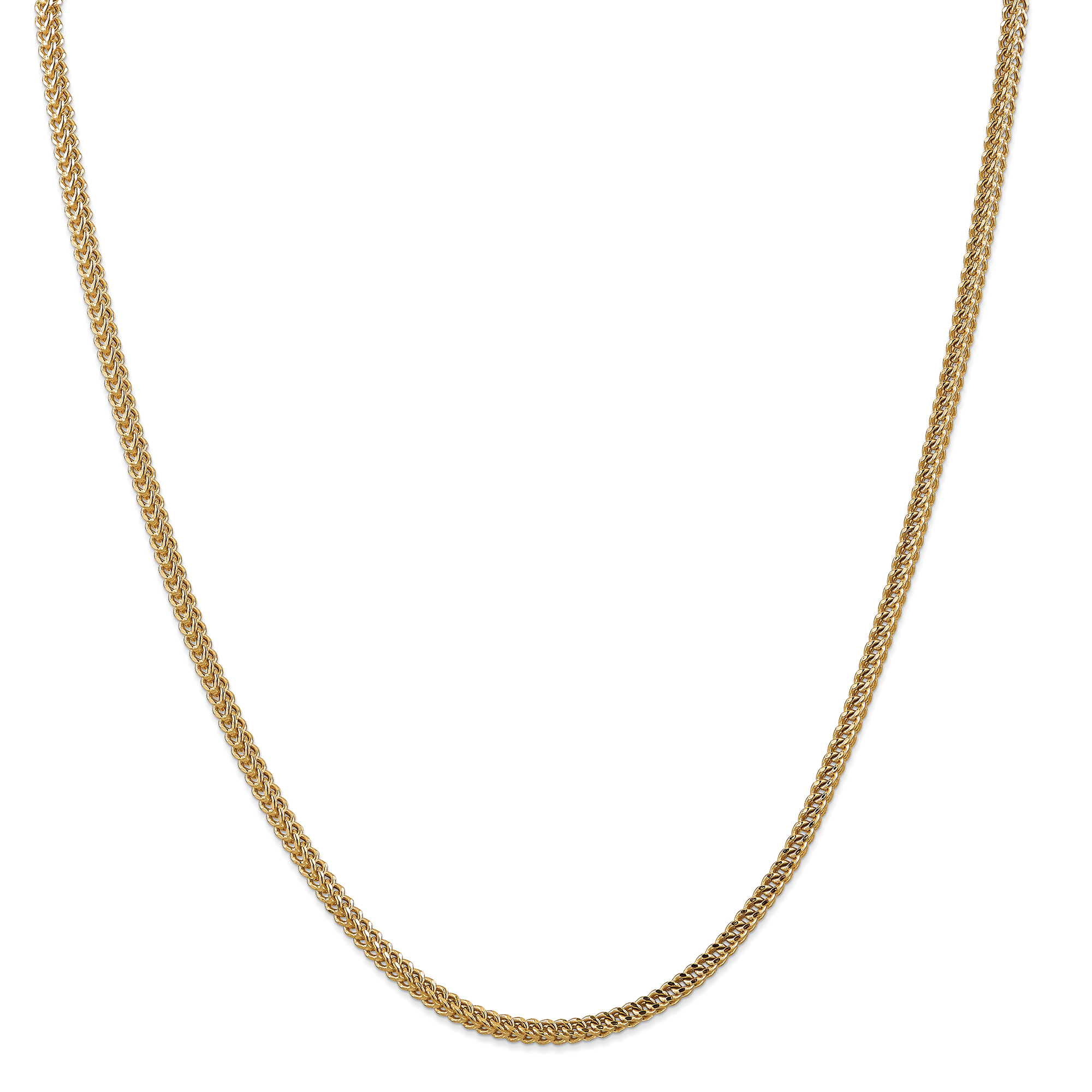 14K Yellow Gold 3mm Hollow Franco Chain 22 Inch - image 5 de 5