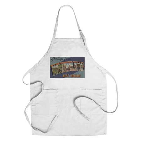 Greetings From Wheeling  West Virginia  Cotton Polyester Chefs Apron
