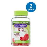 Vitafusion Adult Vitamin B12 Gummies, Raspberry, 500 mcg, 250 Ct