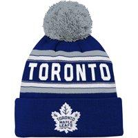 Product Image Toronto Maple Leafs Youth Wordmark Cuffed Pom Knit Hat - Blue  - OSFA afbc88f80234