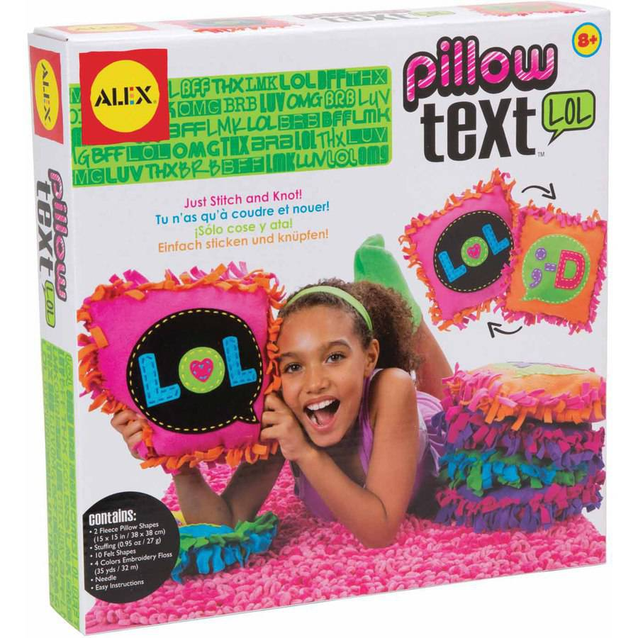 ALEX Toys Craft Kit Pillow Text, LOL