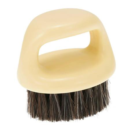 Men's Beard Brush Natural Horse Hair Mustache Shaving Brush ABS Handle Facial Hair (Good Moustache Styles)