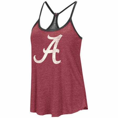 Alabama Crimson Tide Womens NCAA Clearly Inside Reversible Tank Top - Cardinal