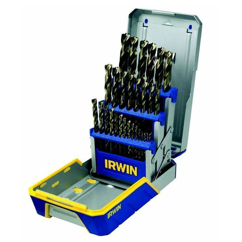 Irwin Turbomax Black and Gold 29-Piece Metal Index Drill Bit Set