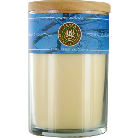WINTER SOLSTICE by Winter Solstice - SOY CANDLE 12 OZ TUMBLER. A BLEND OF SCOTCH PINE, BAYBERRY & FRANKINCENSE WITH LABRGDORITE GEMSTONE. BURNS APPROX. 30+ HOURS - (Solstice Store Hours)