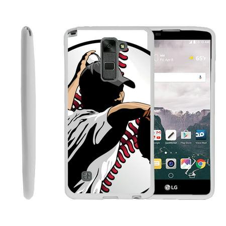 Sling Pitcher (LG G Stylo 2, LG G Stylus 2 LS775, Flexible Case [FLEX FORCE] Slim Durable TPU Sleek Bumper with Unique Designs - Pitcher in Action)