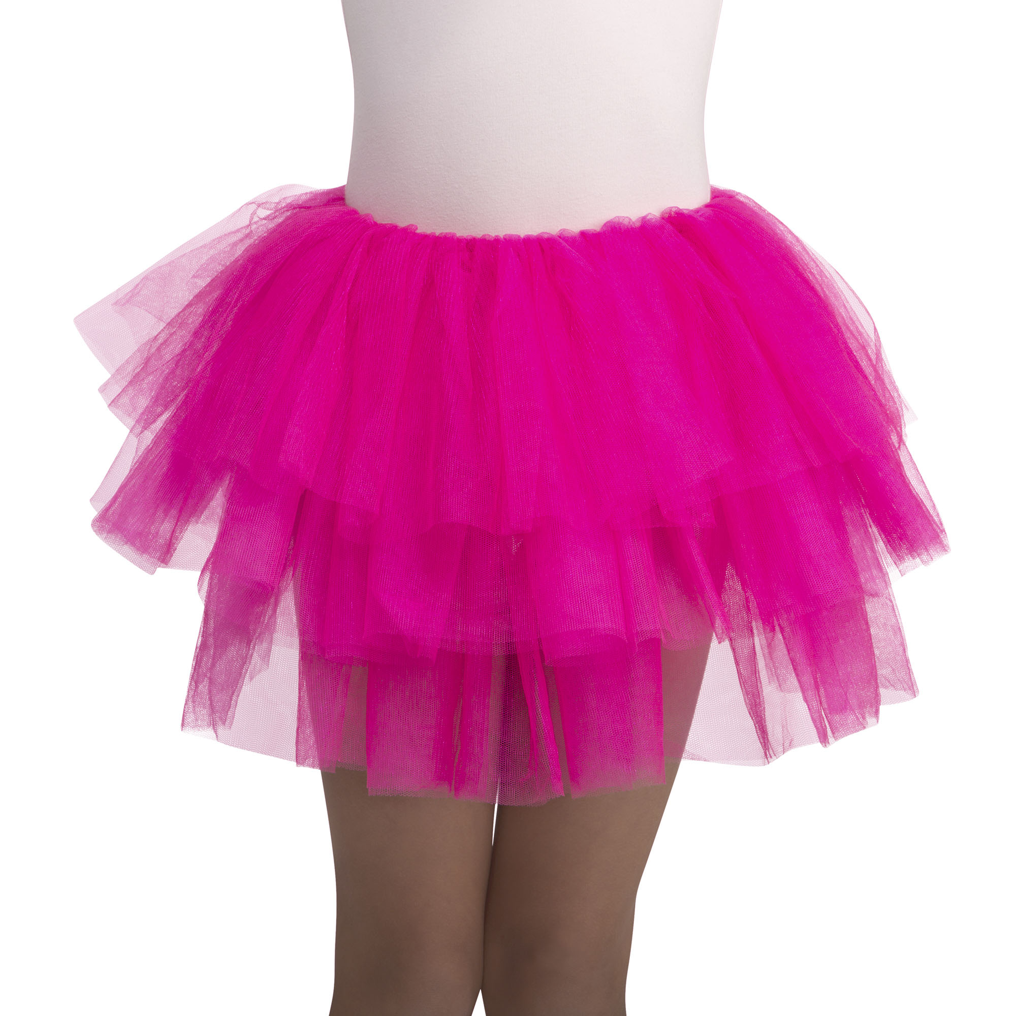 Girl Hot Pink Deluxe Tutu One Size Halloween Dress Up / Costume Accessory