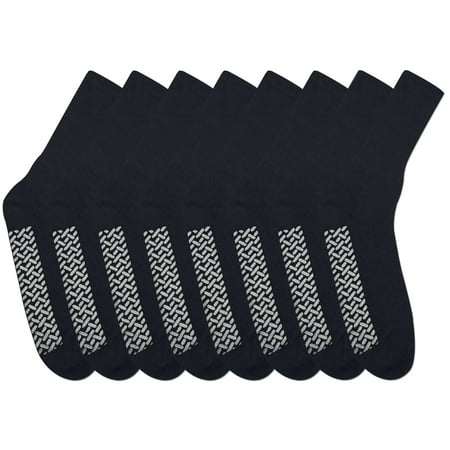 Nobles Assorted Diabetic Anti Skid/ No Slip Hospital Gripper Socks, Great for adults, men, women. Designed for medical hospital patients but great for everyone (Size 10-13 - 8 Pairs