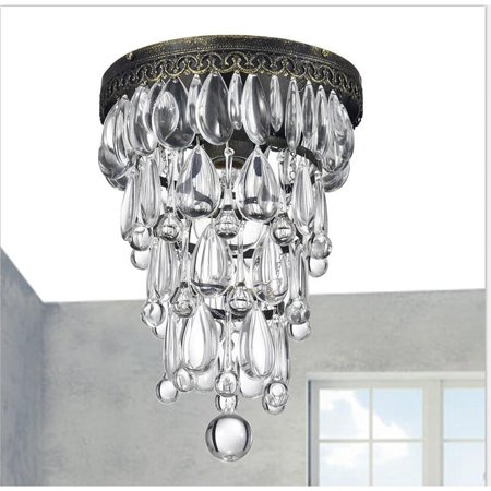 The Lighting Store Cone Shape Antique Copper Finish Flushmount Ceiling Chandelier