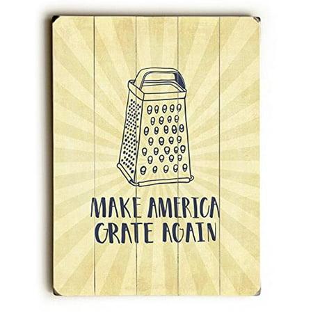 One Bella Casa 75297PW1420 14 x 20 in. Make America Grate Again Planked Wood Wall Decor - image 1 de 1