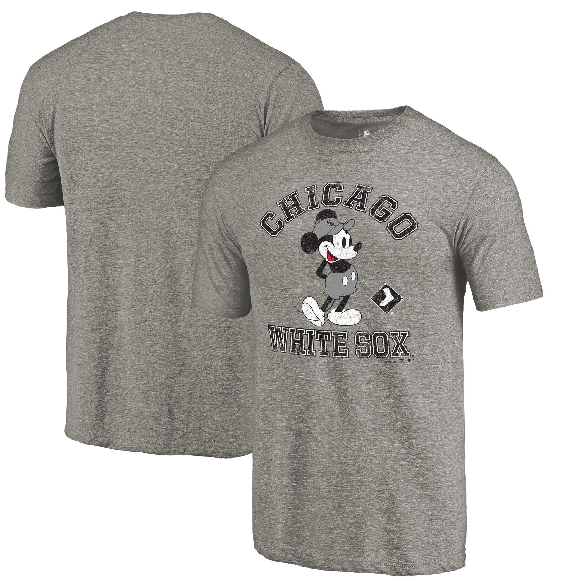 Chicago White Sox Fanatics Branded Disney MLB Tradition Tri-Blend T-Shirt - Heathered Gray