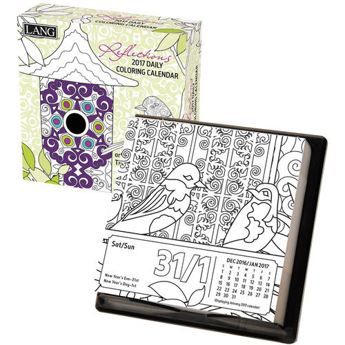 Lang 2017 Box Calendar (Coloring), Reflections