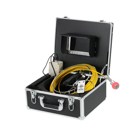 7 LCD Monitor 960TVL CCD Pipeline Inspection Camera Waterproof Drain Pipe Sewer Inspection Camera Industrial Endoscope Baroscope Inspection System with 20m / 30m / 40m / 50m Cable ()