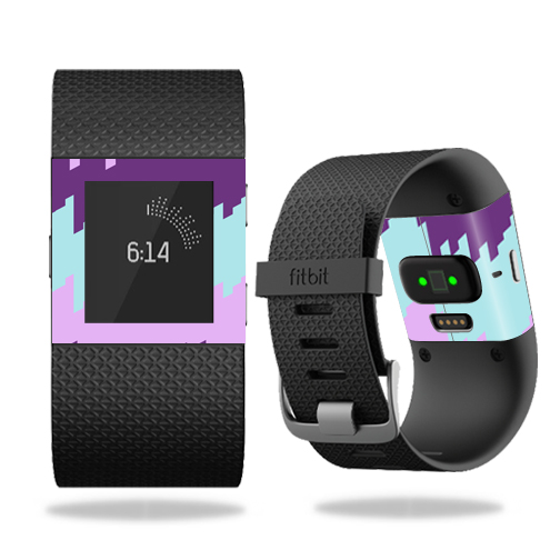Skin Decal Wrap for Fitbit Surge cover skins sticker watch Crazy Rectangles