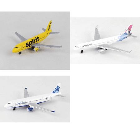 Spirit  Hawaiian  Jetblue Airlines Diecast Airplane Package   Three 5 5   Diecast Model Planes
