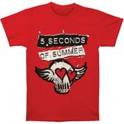 5 Seconds Of Summer Men's  Skull Wings T-shirt Red