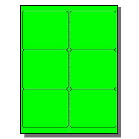 600 4 x 3-1/3 inches Fluorescent Neon Green LASER ONLY Labels, Email us for a Template if Needed By Label Outfitters Disc Label Templates