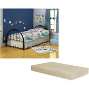 Brooklyn Twin Bed with Memory Foam Mattress, Multiple Colors