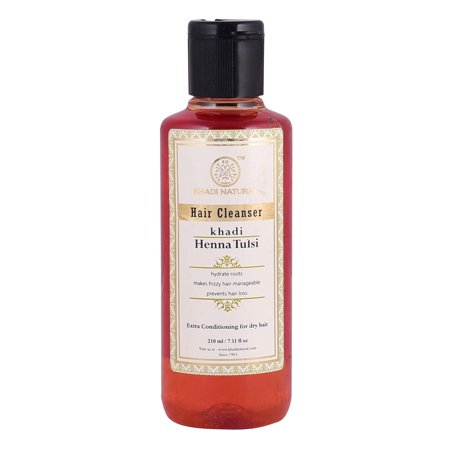 Khadi Natural Ayurvedic Henna Tulsi Hair Cleanser, 210ml Ayurvedic Hair Care