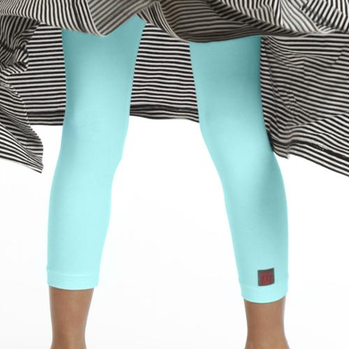 Kidcuteture Girls Bermuda Blue Pedal Pusher Leggings 7-14