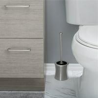 Bath Bliss Stainless Hourglass Shaped Toilet Brush Holder