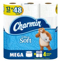 Charmin Ultra Soft Toilet Paper, 12 Mega Rolls = 48 Regular Rolls