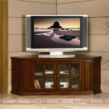 Homelegance Hayden 62 Quot Rta Corner Tv Stand In Burnished